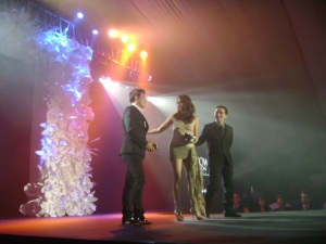 Brillante won the newly released Samsung Galaxy at Oliver Tolentino's Fashion show in 2011